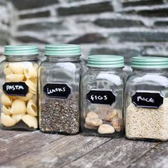 Chalk Board Storage Jars . Not on the High Street .