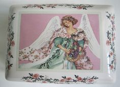 DaySpring Cards Angel Trinket Box T9675 Vintage