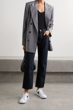 Jeans Outfit Summer, Spring Outfits, Look Fashion, Fashion Outfits, Blazer Outfits, Cute Casual Outfits, Minimalist Fashion, Aesthetic Clothes, What To Wear