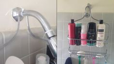 Use a Zip Tie to Hold a Shower Caddy in Place