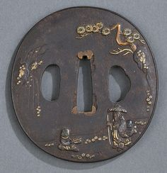 2 iron Tsuba - by Quinn's Auction Galleries