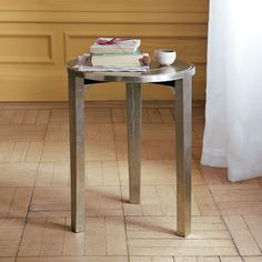 Metal Wrapped Side Table | west elm - for the living room