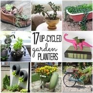 We love these 17 #upcycled garden planters!