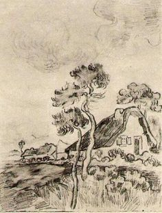 Cottages and Trees, 1890, Vincent van Gogh