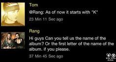 """Oi pessoal você pode nos dizer o nome do álbum? Ou a letra do nome do álbum? Por favor   @Ana Kitty Bessa Por enquanto ela começa com a letra """"K"""
