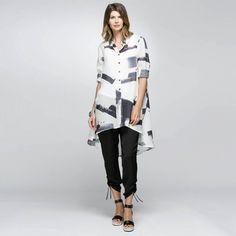 1ef105d1ca Hi-Lo Print Shirt · Rodney ClarkHAMMOCK   VINE