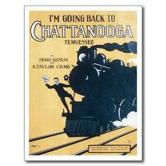 Chattanooga Vintage Song Sheet Music Art Postcard #songsheets #postcards #music