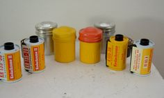 Vintage KODAK 35mm Film with tin CANISTERS lot of 4 expired film untested by ilovevintagestuff on Etsy