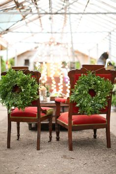 I love the idea of decorating your #wedding reception with beautiful wreaths! From http://stylemepretty.com/gallery/picture/955103/  Photo Credit: http://aaronsnowphotography.com/  Event Design by http://gibsonevents.com/