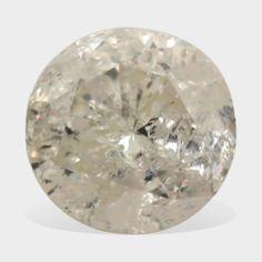 0.50 Carat I White Color I-3 Clarity Round Brilliant Natural Solitaire Diamond #Diamondzul #BrilliantDiamonds #Diamonds