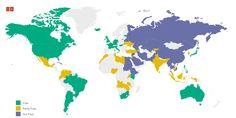 DomainAddress.info: 2015 Internet freedom visualized by Freedom House