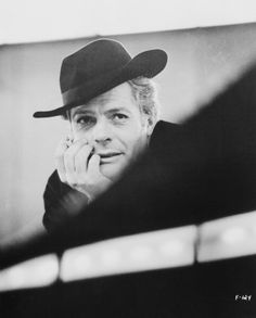 Italian actor Marcello Mastroianni as he appears in '8 1/2' directed by Federico Fellini 1963