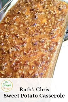 Chris Sweet Potato Casserole This recipe for Ruth's Chris Sweet Potato Casserole is the best I've ever had. It is the perfect side dish!This recipe for Ruth's Chris Sweet Potato Casserole is the best I've ever had. It is the perfect side dish! Potato Dishes, Food Dishes, Fall Recipes, Holiday Recipes, Thanksgiving Sweet Potato Recipes, Thanksgiving Menu, Side Dishes For Thanksgiving, Vegetables For Christmas Dinner, Christmas Dinner Side Dishes