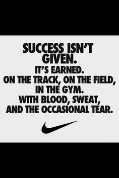 This pine or quote describe sometimes people take sports for granted and people don't earn there accomplishment they have it given to them! You have to earn your accomplishment cause I know I have!