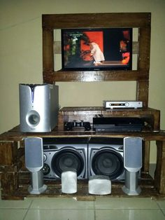 Mueble tv palets