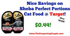 If you need wet cat food, don't miss out on this printable coupon and deal at Target! Nice Savings on Sheba Perfect Portions Cat Food @ Target!  Click the link below to get all of the details ► http://www.thecouponingcouple.com/nice-savings-on-sheba-perfect-portions-cat-food-target/ #Coupons #Couponing #CouponCommunity  Visit us at http://www.thecouponingcouple.com for more great posts!