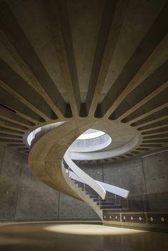 The Gallo-Roman museum of Lyon. Architect: Bernard Zehrfuss, 1975.