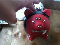 Blackhawks piggy bank