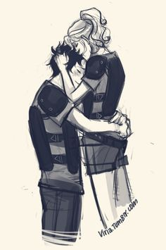 I dunno, I need a lot of Percy Jackson lately. And I thought about some random 'I caught you and now I am going to hug and smooch you a lot because rlly I love you' between some camp battles and stuff *not war, just their Capture the flag* *viria lives in a happy reality when characters actually get a chance to do some random smooches around*  whatever. percabeth, won't hurt anybody. probably
