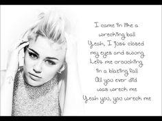 Wrecking Ball-  Miley Cyrus Lyrics