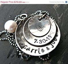 Personalized Layered Stacked Necklace  Mothers by yourcharmedlife