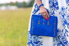 Shades of Blue on #HelloGorgeous! This beautiful blue floral skirt from @chicwish is so perfect for a summer wedding!