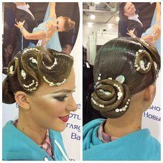 Ballroom competition hair