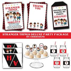 Stranger Things Party Package Stranger Things Invitation