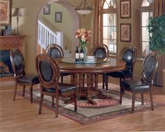 "Round Dining Table For 6 With Lazy Susan from ecustomfinishes this is 84"" and they say seats 12"