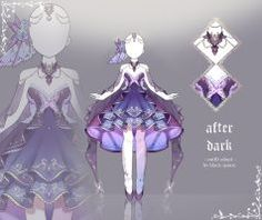 [closed] After Dark Outfit Adopt Manga Clothes, Drawing Clothes, Fashion Design Drawings, Fashion Sketches, Galaxy Outfit, Anime Dress, Dress Sketches, Dress Drawing, Fantasy Dress