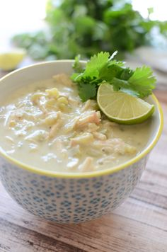 Paleo White Chicken Chili - healthy and delicious chili recipe!