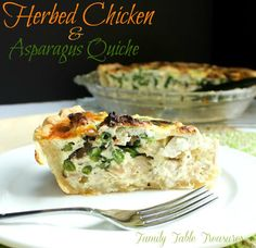 This easy to make Herbed Chicken & Asparagus Quiche is loaded with chunks of rotisserie chicken, fresh asparagus and sauteed mushrooms.  Boursin cheese spread is added to created one mouthwatering savory treat!  Mom made this delicious quiche last week and it was such a nice treat for many reasons.  First of all is was absolutely …