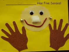 5 senses - sandpaper hands, perfumed dipped cotton ball, bells, licorice mouth - love this!!