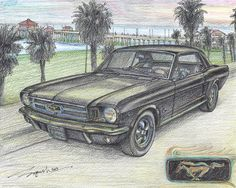 1965 Ford Mustang Coupe  PRINT  Limited Edition by TimelessForever, $14.99