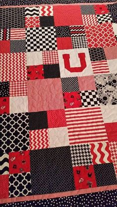 University of Utah quilt with minky on the back!