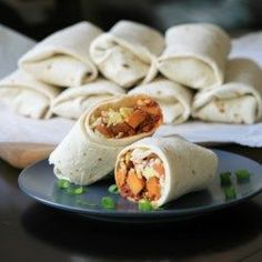 Make-Ahead Sweet Potato and Chorizo Breakfast Burritos Recipe Make Ahead Breakfast Burritos, Chorizo Breakfast, Sweet Potato Breakfast, Breakfast Bites, Vegetarian Breakfast, Sweet Potato Burrito, How To Cook Chorizo, Milk Recipes, Meal Prep