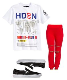 """""""Untitled #44"""" by loveme-dxx ❤ liked on Polyvore featuring Hudson and Vans"""