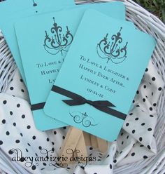 Personalized Wedding Favor Fans by abbeyandizziedesigns on Etsy, $56.70