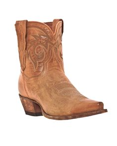 Love this short boot! [Dan Post Women's Flat Iron - Tan via Country Outfitters]