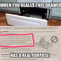 The bottom drawer of your oven actually serves a purpose.