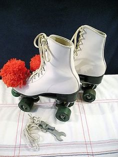 """Roller skates had to have pom-poms...  if you didn't, well then... you just weren't """"cool."""""""