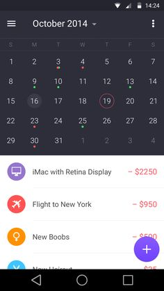 Walle Finance App [Android Calendar]