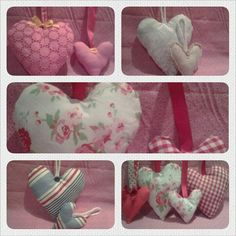 Door hanging hearts