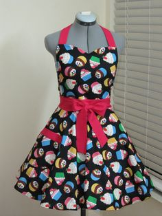 Love My Cupcakes Full Apron  MultiColor cupcakes by AquamarCouture, $37.00