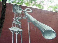 A Mechanical Shark Mural By Phlegm In San Diego Art Pinterest - Awesome mechanical shark mural phlegm