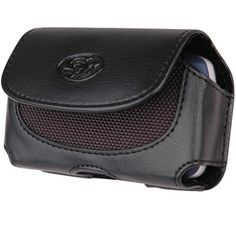Samsung Freeform / Link R350 / R351 / R355, Samsung Intrepid SPH-i350 Sprint Black Horizontal Premium Faux Leather Pouch Cover Case With Belt Clip And Belt Loops.[WCDN]