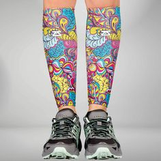 Groovy Compression Leg Sleeves, Calf Sleeve for Runners Compression Leg Sleeves, Calf Sleeve, Leg Pain, Limited Edition Prints, How To Run Longer, Soft Fabrics, Calves, Legs, Running