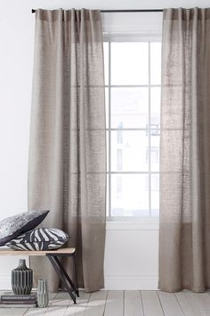 Jaw-Dropping Tips: Cafe Curtains Dreams curtains bohemian boho.Cafe Curtains With Blinds curtains bedroom minimalist. Home Curtains, Farmhouse Curtains, Country Curtains, Curtains Living, Curtains With Blinds, Linen Curtains, Blackout Curtains, Luxury Curtains, Kitchen Curtains
