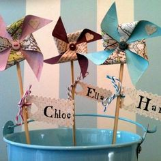 Order your Great British Seaside windmill favours/name markers from Coastalcreatives only £3