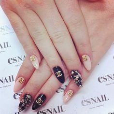 Coco Chanel nails. love the design but with square tips.